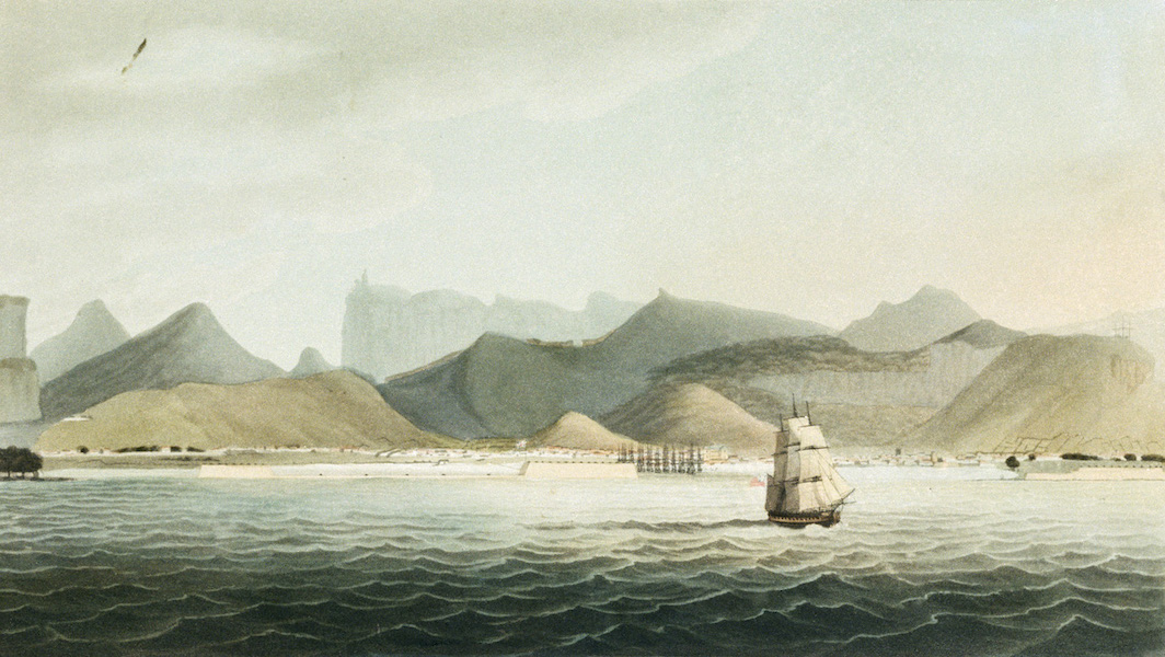Eight Views of the Mauritius - Port Louis, about one mile distant from the Shore (1813)