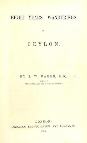 English - Eight Years' Wanderings in Ceylon