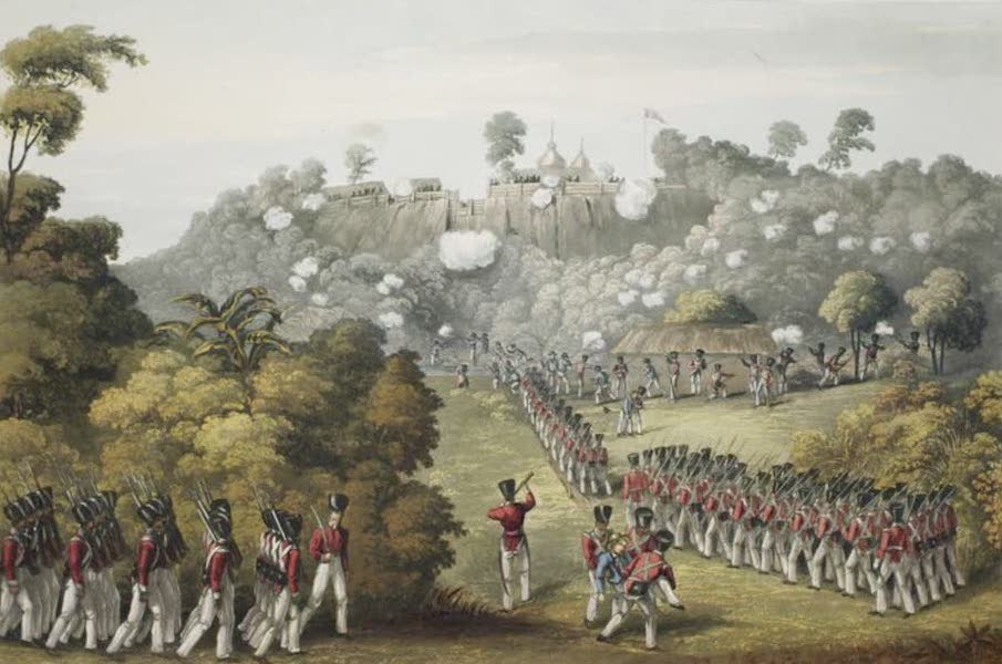 Eighteen Views taken at and near Rangoon - The Storming of the Fort of Syriam by a combined force of Sailors, and European & Native Troops, on the 5th August 1824 (1826)