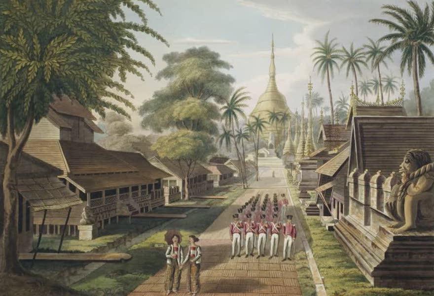 Eighteen Views taken at and near Rangoon - The Principal approach to the Great Dagon Pagoda at Rangoon (1826)