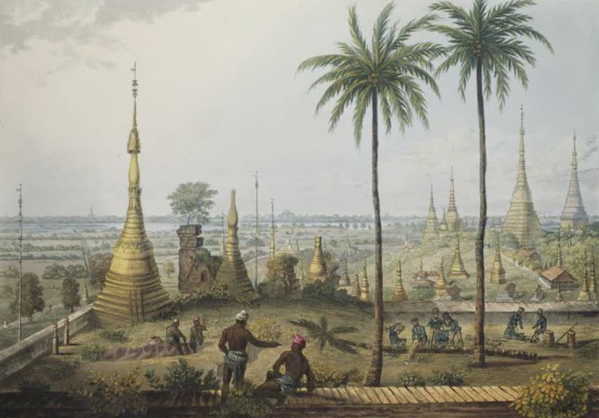 Eighteen Views taken at and near Rangoon - Scene from the Upper Terrace of the Great Pagoda at Rangoon, to the South East (1826)