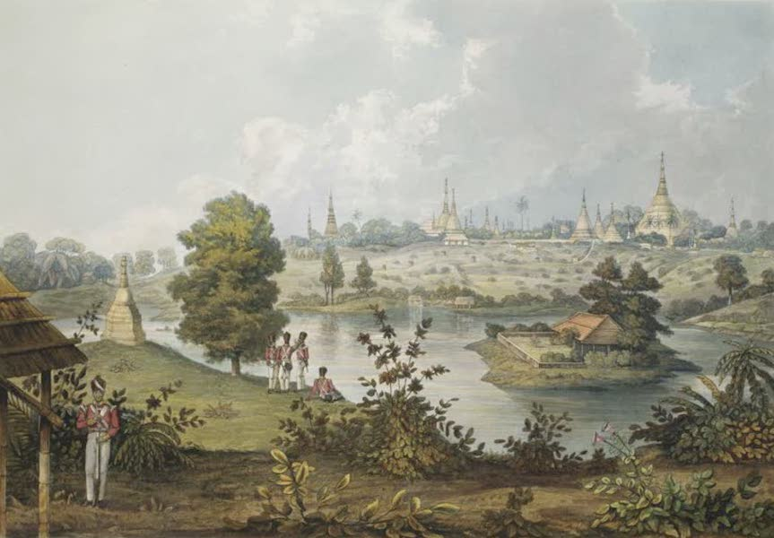Eighteen Views taken at and near Rangoon - View of the Lake and part of the Eastern Road from Rangoon, taken from the Advance of the 7th Madras Native Infantry (1826)