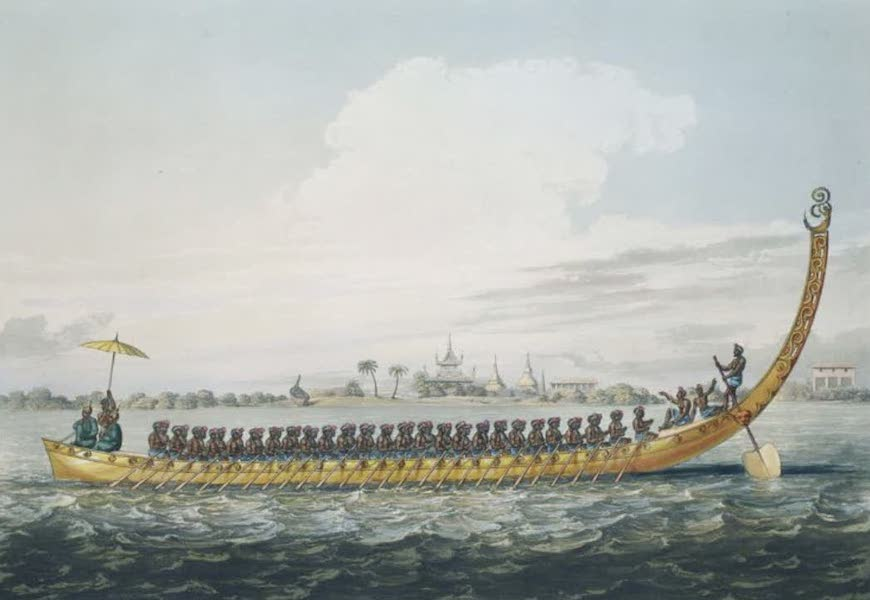 Eighteen Views taken at and near Rangoon - One of the Birman Gilt War Boats, captured by Capt. Chads, R.N. in his successful expedition against Tanthabeen Stockade (1826)