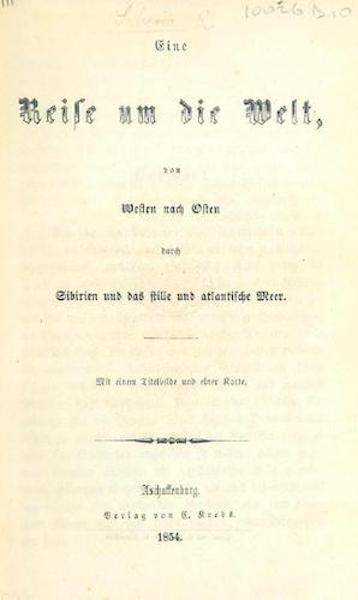 Eine Reise um die Welt von Westen nach Osten durch Sibirien - Title Page (1854)