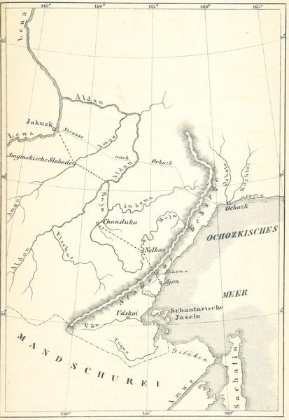 Eine Reise um die Welt von Westen nach Osten durch Sibirien - Map of Far Eastern Asia Including Siberia and Manchuria (1854)