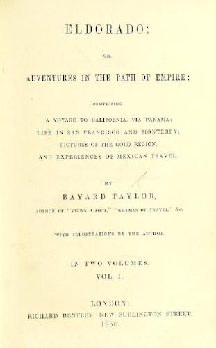 English - Eldorado; or, Adventures in the Path of Empire
