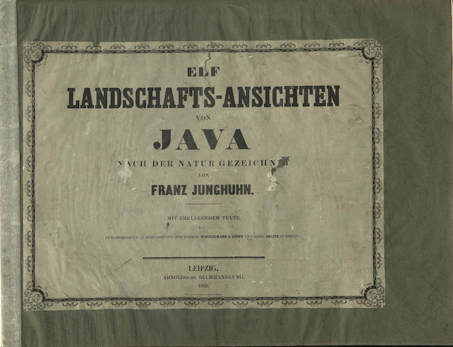 Aquatint & Lithography - Elf Landschafts-Ansichten von Java