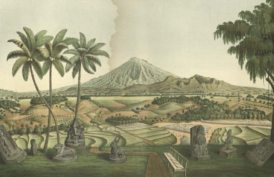 Elf Landschafts-Ansichten von Java - Gunung-Sumbing (1853)