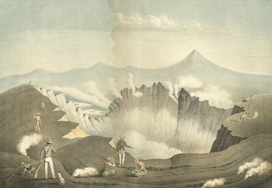 Elf Landschafts-Ansichten von Java - Gunung-Guntur (1853)