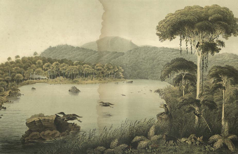 Elf Landschafts-Ansichten von Java - Telaga Patengan (1853)
