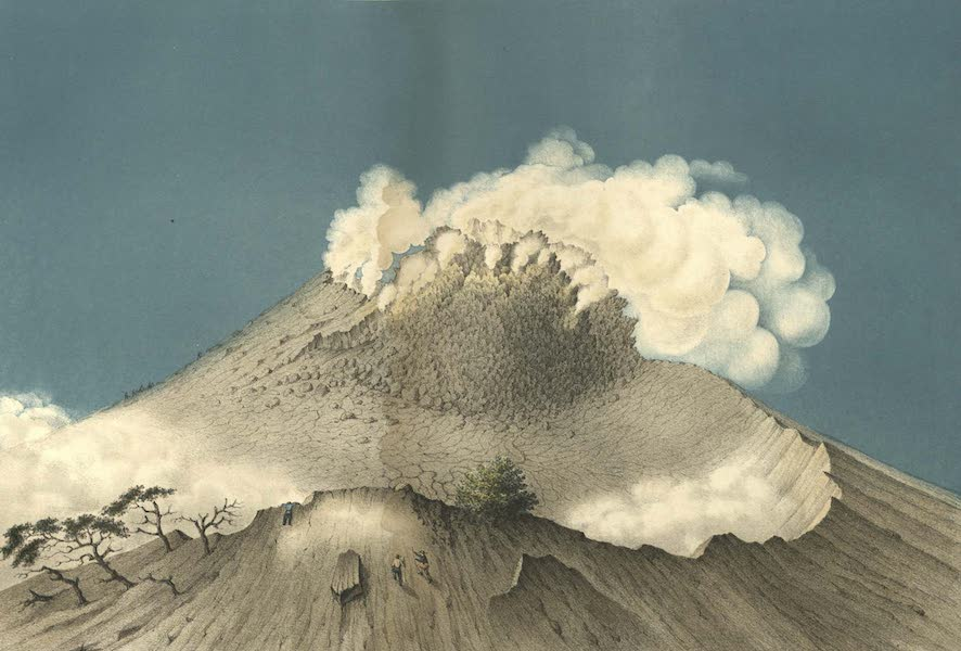 Elf Landschafts-Ansichten von Java - Gunung-Merapi (1853)