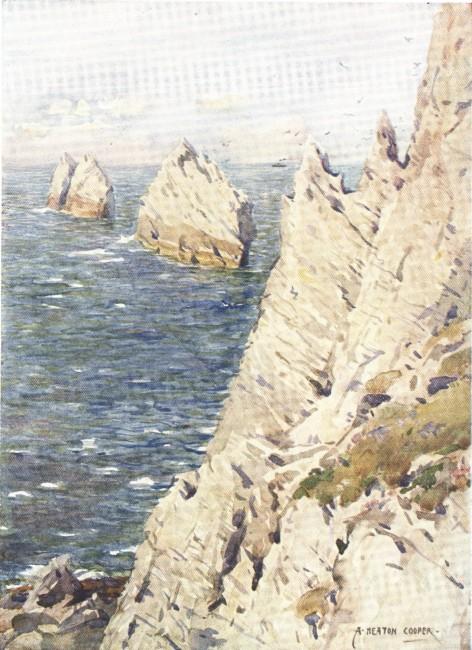 England - The Chalk Cliffs of England (1914)