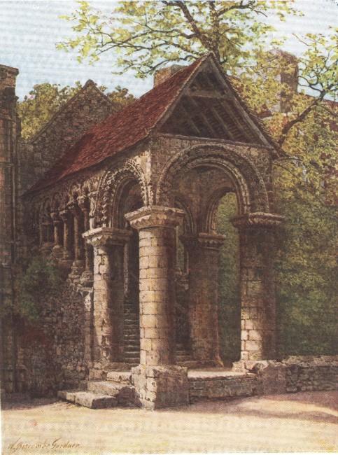 England - Norman Staircase, King's School, Canterbury (1914)