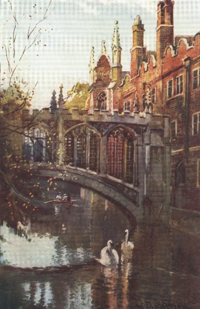 England - The Bridge of Sighs, St. John's College, Cambridge (1914)