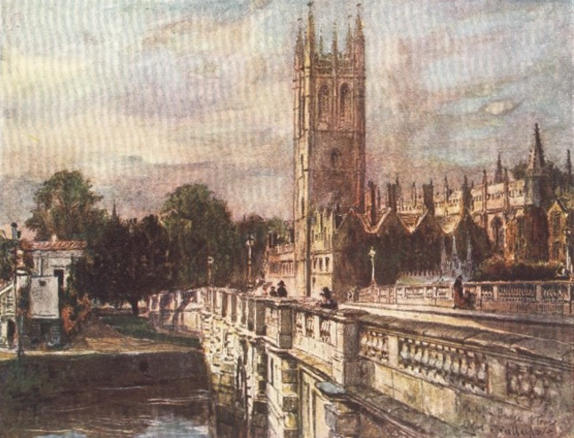 England - St. Magdalen Tower and College, Oxford (1914)