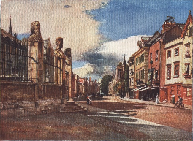 England - Broad Street, Oxford, looking West (1914)