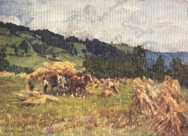 England - Harvesting in Herefordshire (1914)