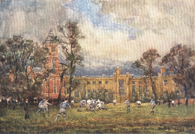England - Football at Rugby School (1914)
