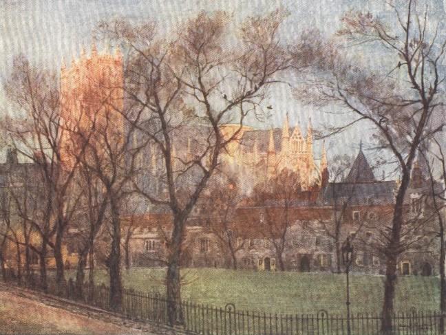 England - Dean's Yard, Westminster (1914)