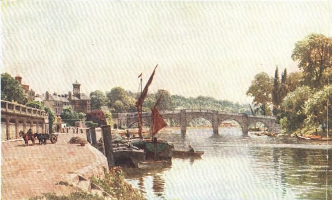 England - Thames at Richmond, Surrey (1914)