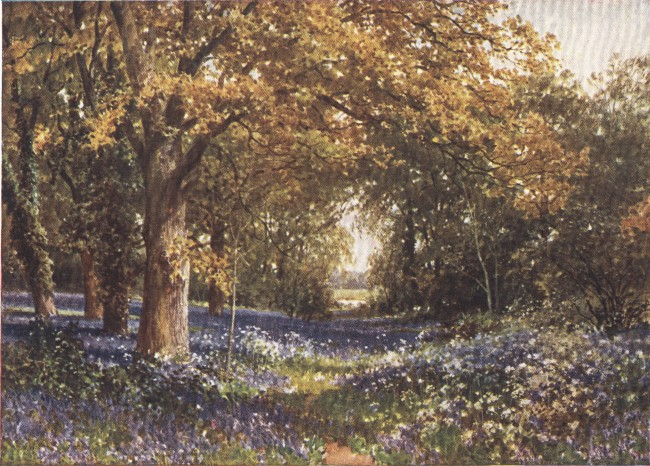 England - Spring by the Thames (1914)