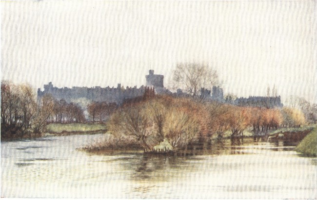 England - Windsor Castle from Fellows' Eyot: Early Spring (1914)