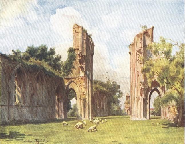 England - Glastonbury Abbey, Somersetshire (1914)