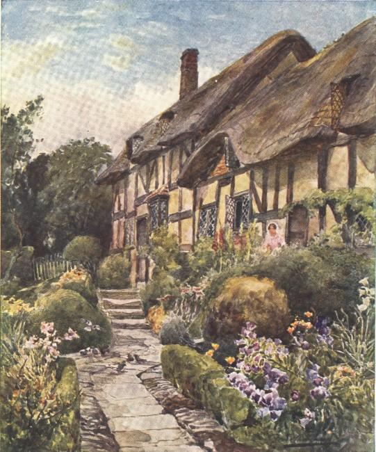 England - Anne Hathaway's Cottage near Stratford-on-Avon (1914)