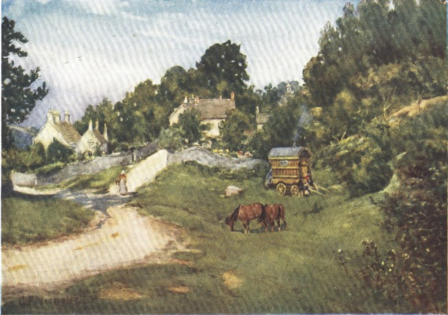England - Gipsies on a Gloucestershire Common (1914)