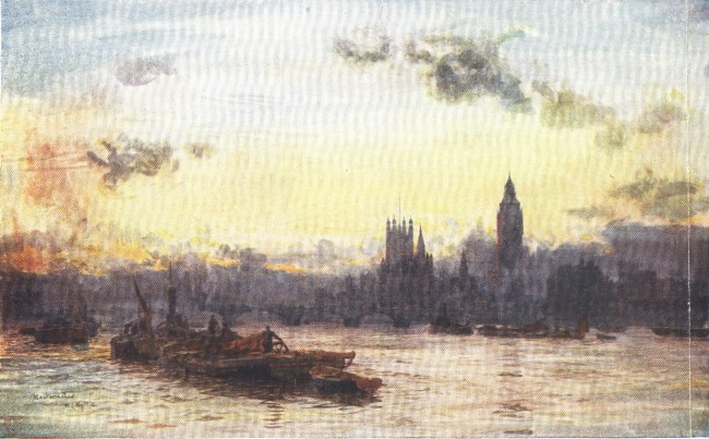 England - Westminster and the Houses of Parliament (1914)