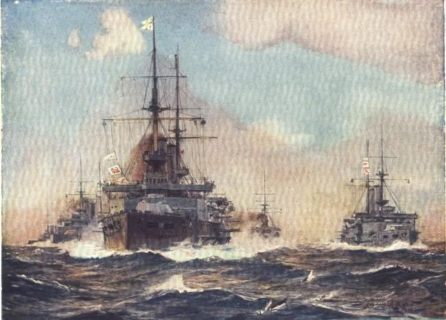 England - Battleships Manoeuvring (1914)