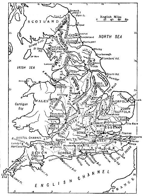 England - Sketch Map of England (1914)
