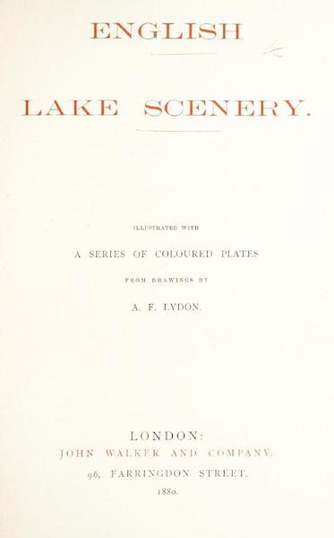 English Lake Scenery - Title Page (1880)