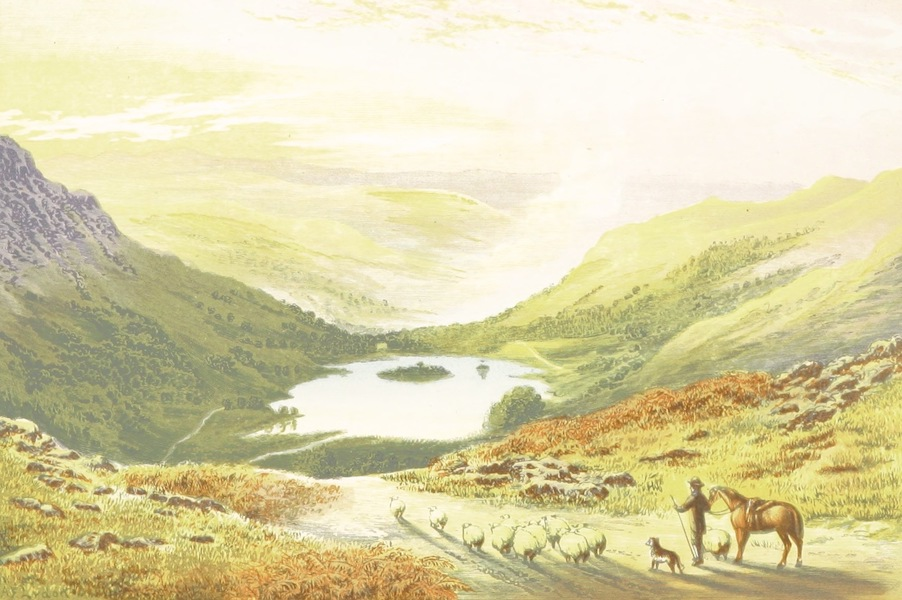 English Lake Scenery - Rydal Water from Loughrigg Terrace (1880)