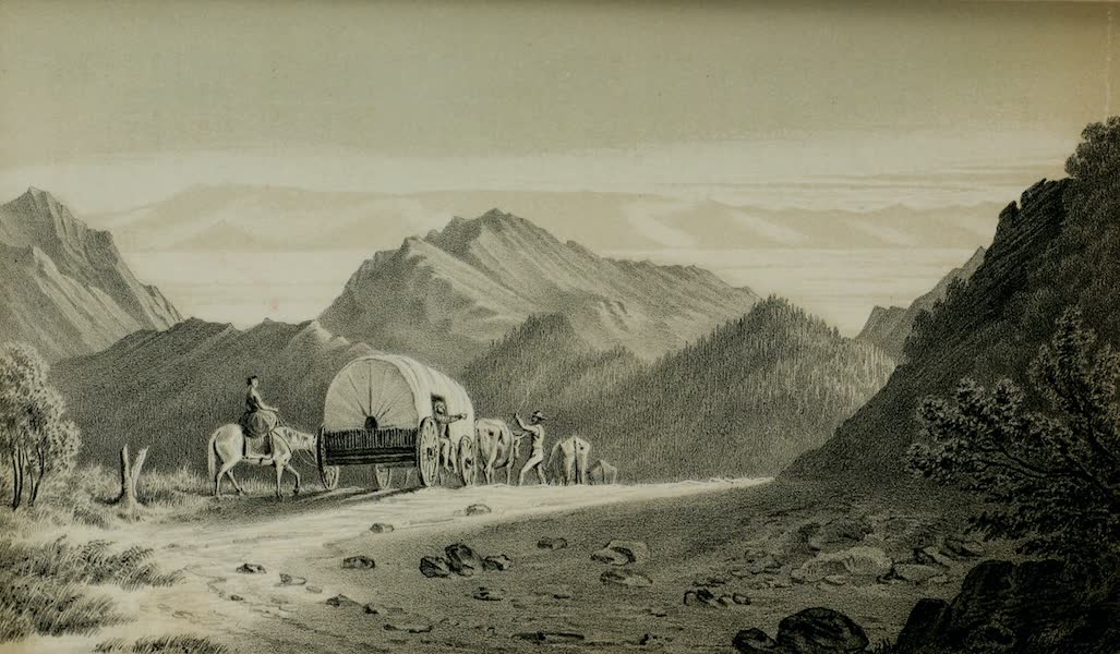 Exploration and Survey of the Valley of the Great Salt Lake of Utah - First View of Great Salt Lake Valley, from a Mountain-pass (1852)