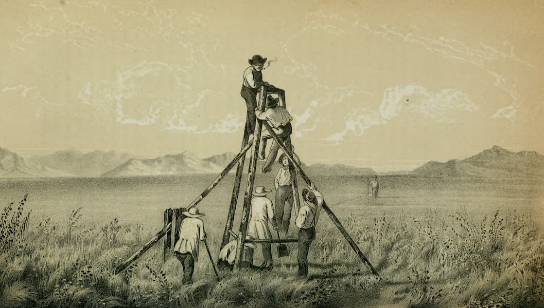 Exploration and Survey of the Valley of the Great Salt Lake of Utah - Station - East End of the Base Line, Salt Lake Valley (1852)