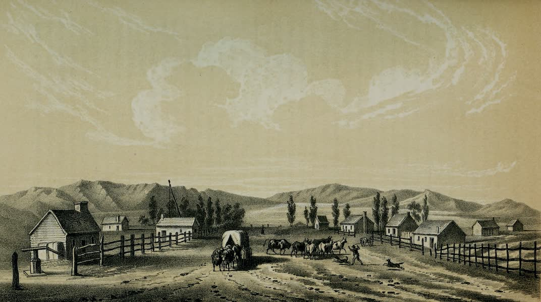 Exploration and Survey of the Valley of the Great Salt Lake of Utah - Street in Great Salt Lake City (1852)