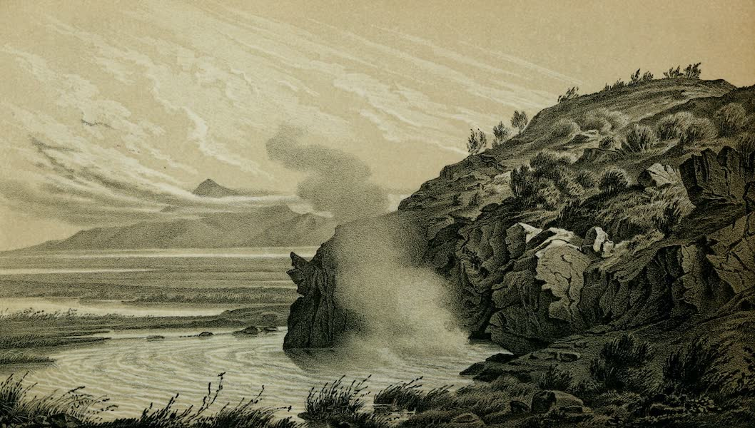 Exploration and Survey of the Valley of the Great Salt Lake of Utah - Hot Springs - three miles from the City (1852)