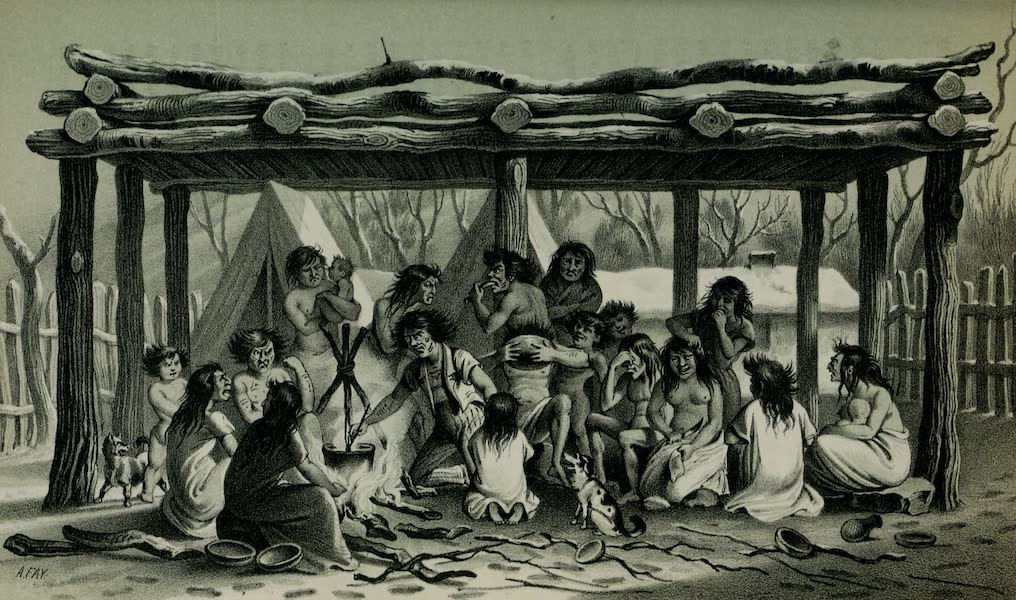Exploration and Survey of the Valley of the Great Salt Lake of Utah - Utah Prisoners, under the Common Platform - Fort Utah (1852)