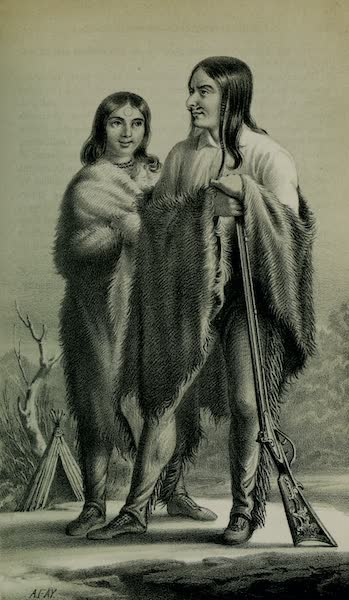 Exploration and Survey of the Valley of the Great Salt Lake of Utah - Old Elk and his Squaw - Utah Indians (1852)