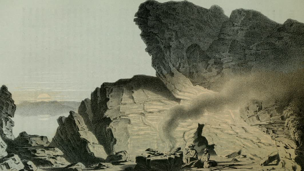 Exploration and Survey of the Valley of the Great Salt Lake of Utah - Camp No 4, near Promontory Point (1852)
