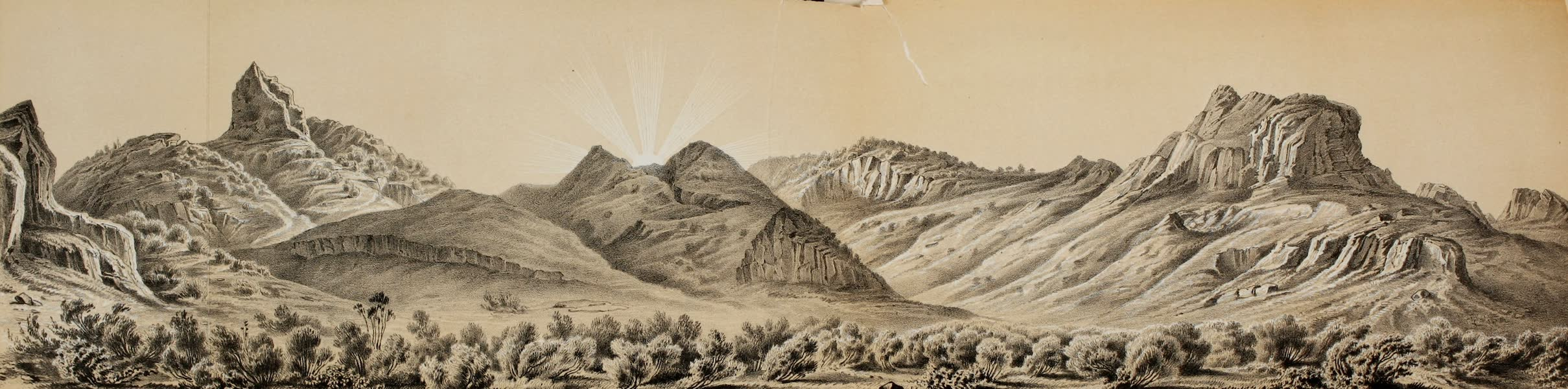 Exploration and Survey of the Valley of the Great Salt Lake of Utah - Part of Western Slope of Promontory Range (1852)