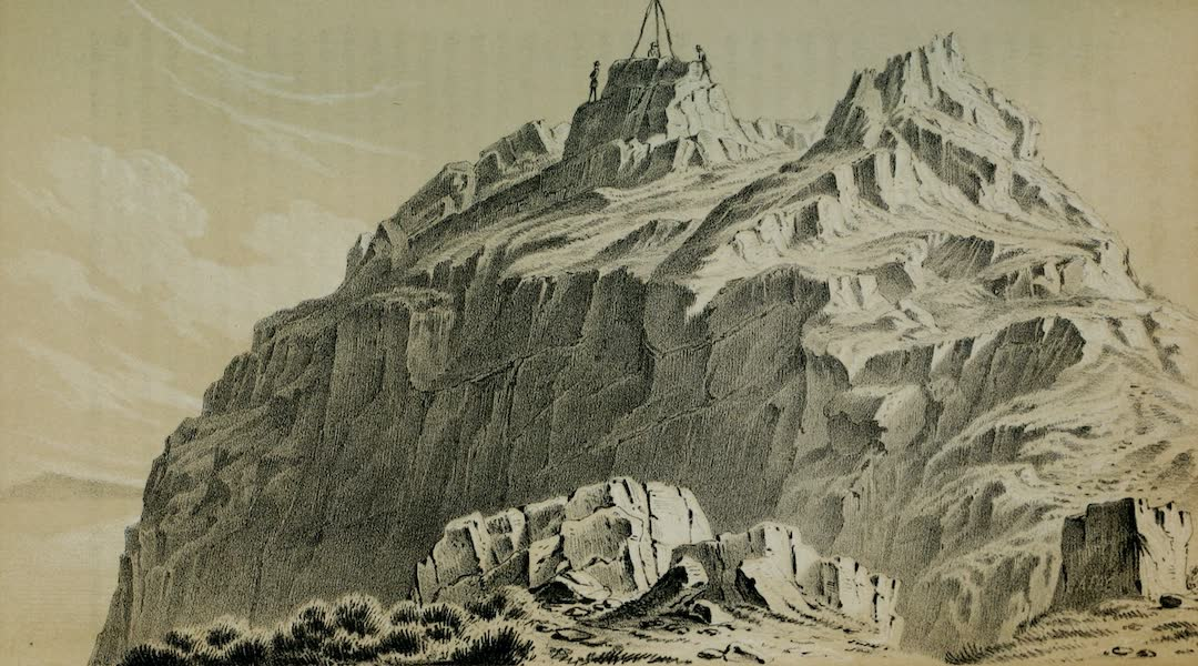 Exploration and Survey of the Valley of the Great Salt Lake of Utah - Gunnison's Island and Station, from the North (1852)