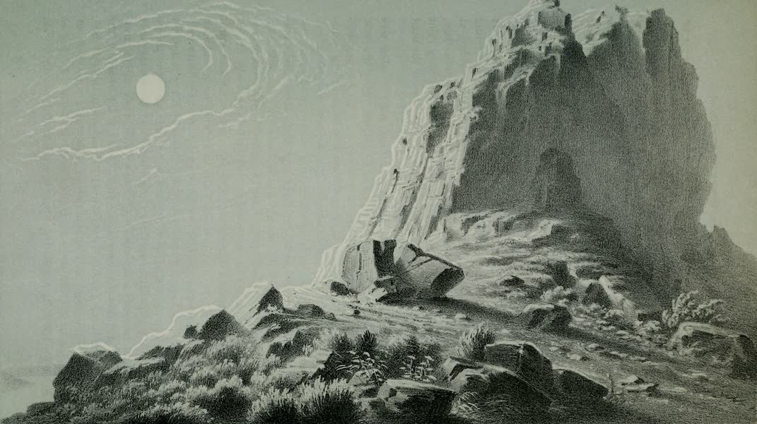 Exploration and Survey of the Valley of the Great Salt Lake of Utah - Limestone Cliff - North End of Gunnison's Island (1852)