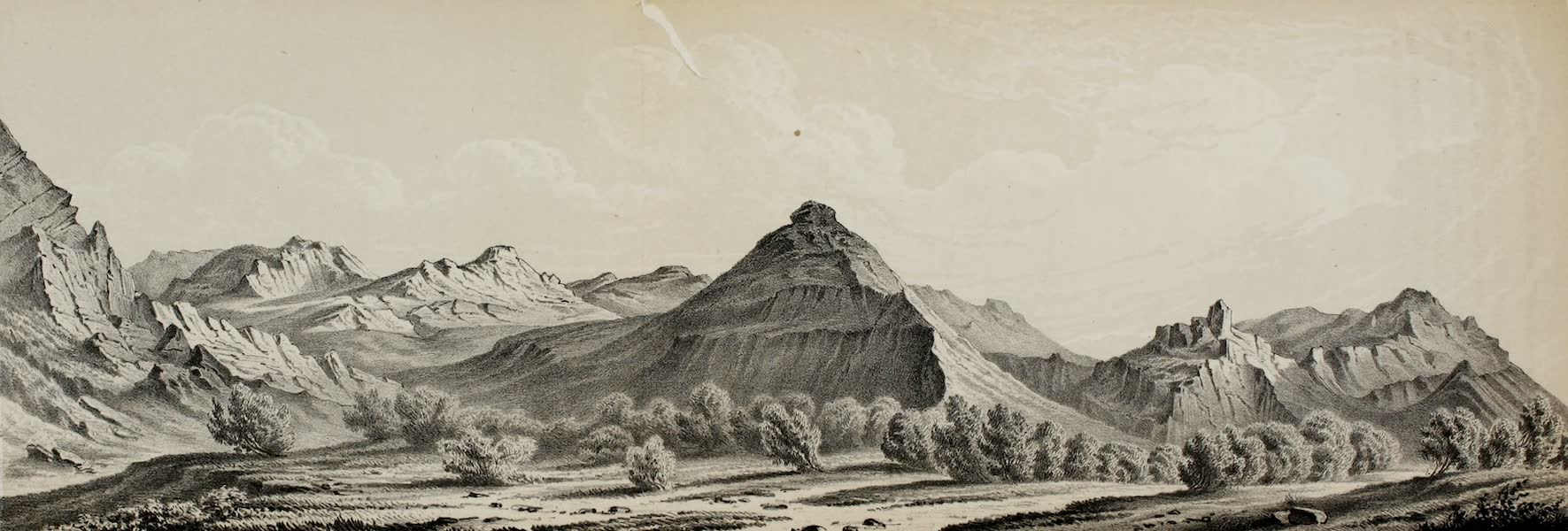 Exploration and Survey of the Valley of the Great Salt Lake of Utah - View from Strong's Knob (1852)