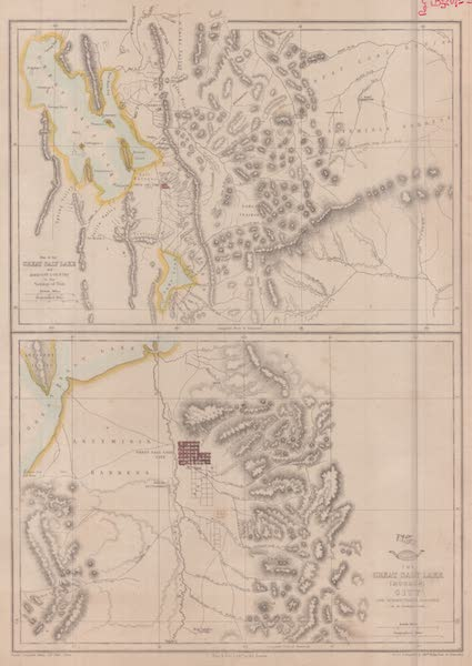 Exploration and Survey of the Valley of the Great Salt Lake of Utah - Map of the Great Salt Lake, and adjacent country (1852)