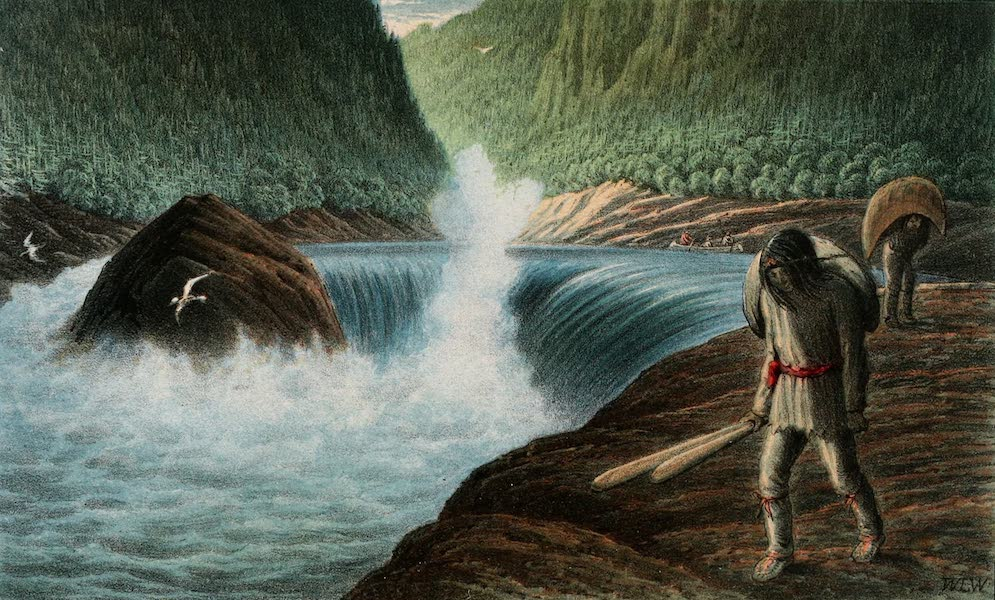 Explorations in the Interior of the Labrador Peninsula Vol. 1 - The Third Rapid on the Moisie (1863)