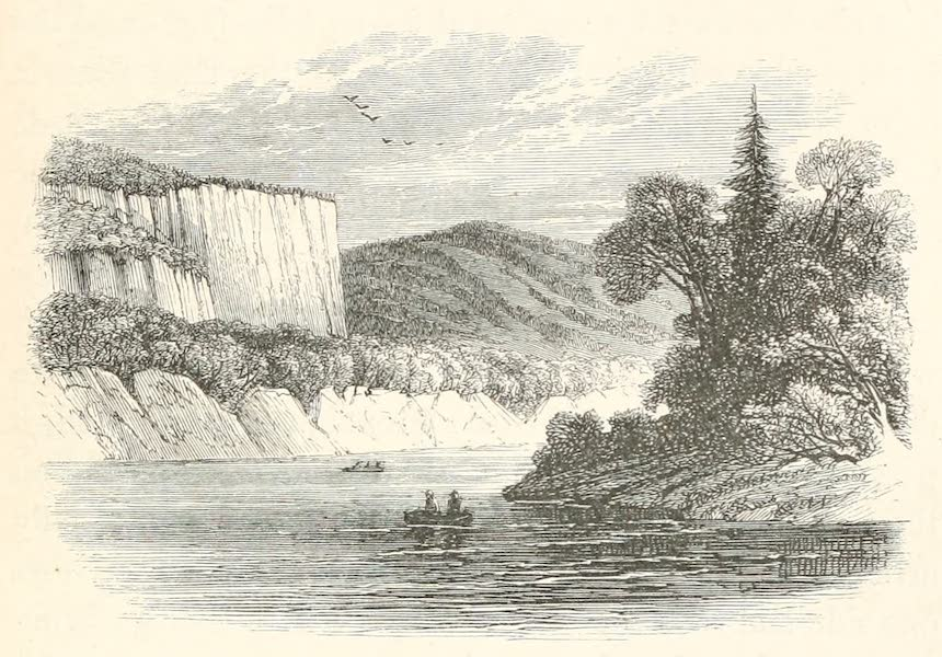 Explorations in the Interior of the Labrador Peninsula Vol. 1 - Perpendicular Rocks on the Moisie (1863)