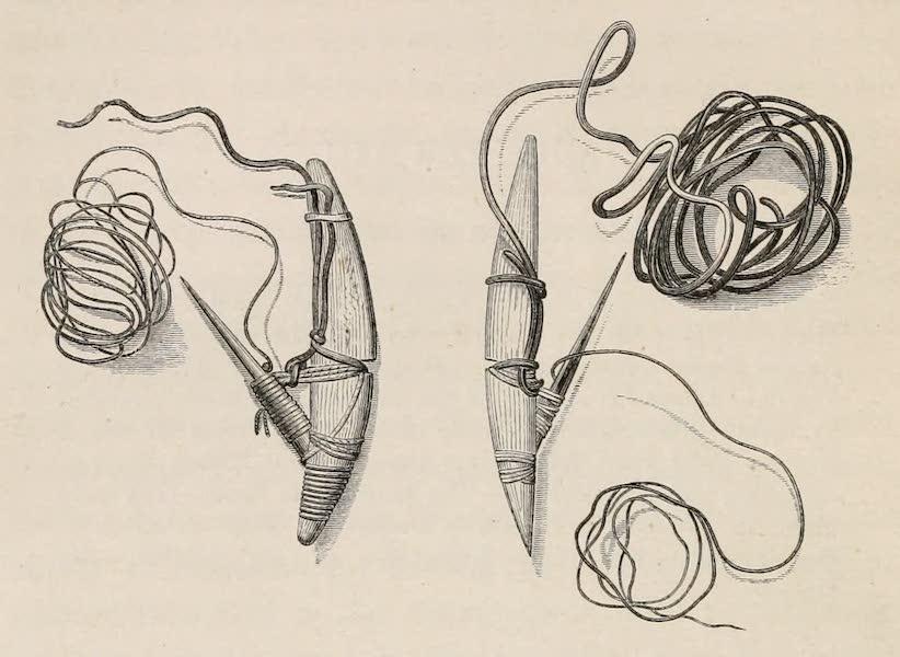Explorations in the Interior of the Labrador Peninsula Vol. 1 - Nasquapee Copper and Iron Fish Hooks (1863)