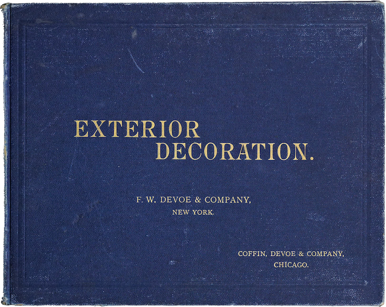 Exterior Decoration - Front Cover (1885)